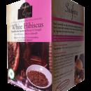 white hibiscus bissap roselle sabdariffa herbal tea saafara