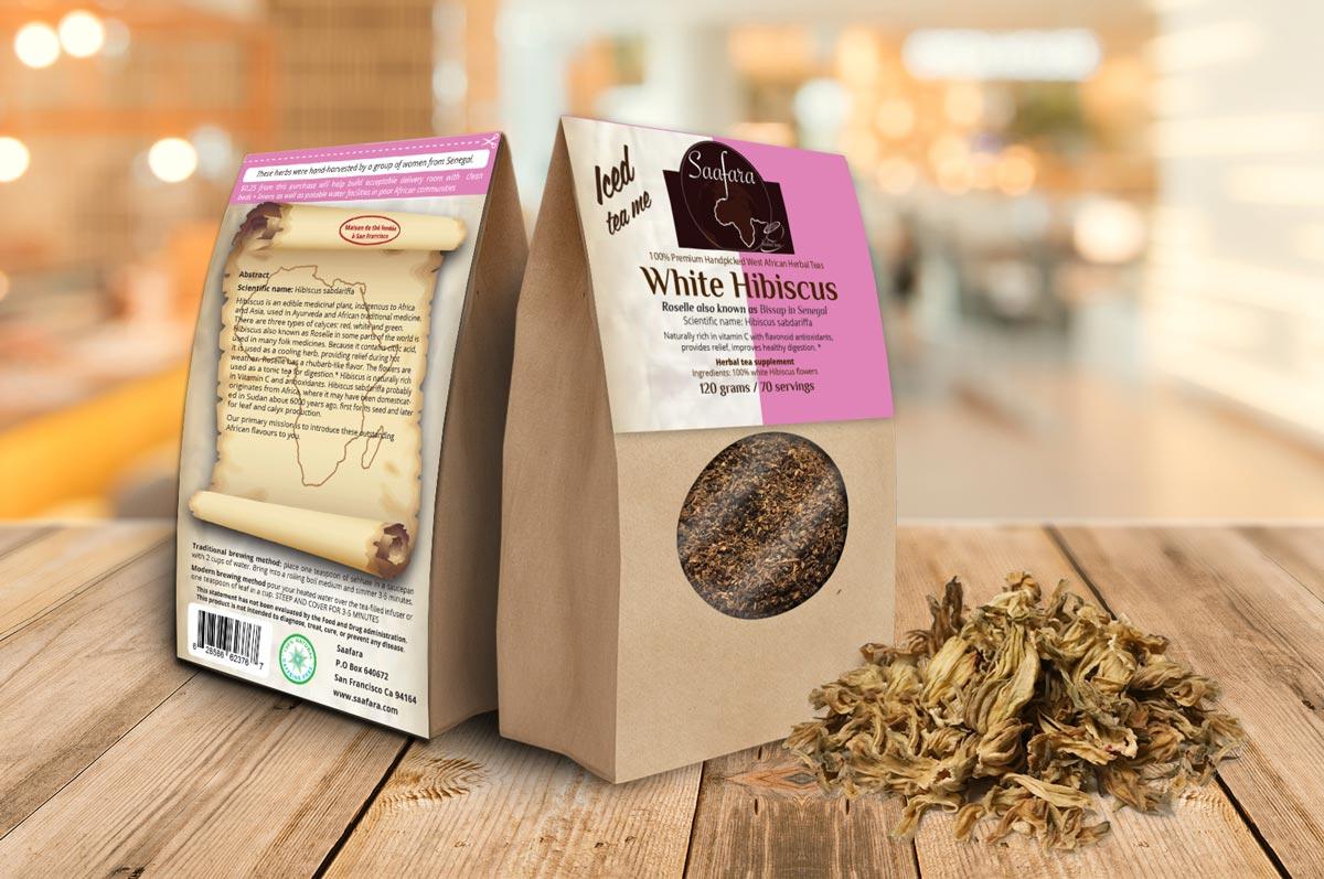 White Hibiscus Saafara Herbal Teas